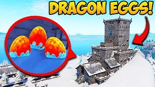 *NEW* DRAGON EGGS FOUND UNDER CASTLE! - Fortnite Funny Fails and WTF Moments! #419