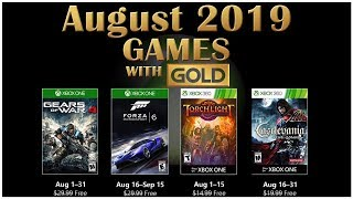 Xbox Live Games With Gold August 2019