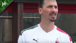 ZLATAN SCORES ON AC MILAN DEBUT | AC Milan 9-0 Rhodense (friendly)
