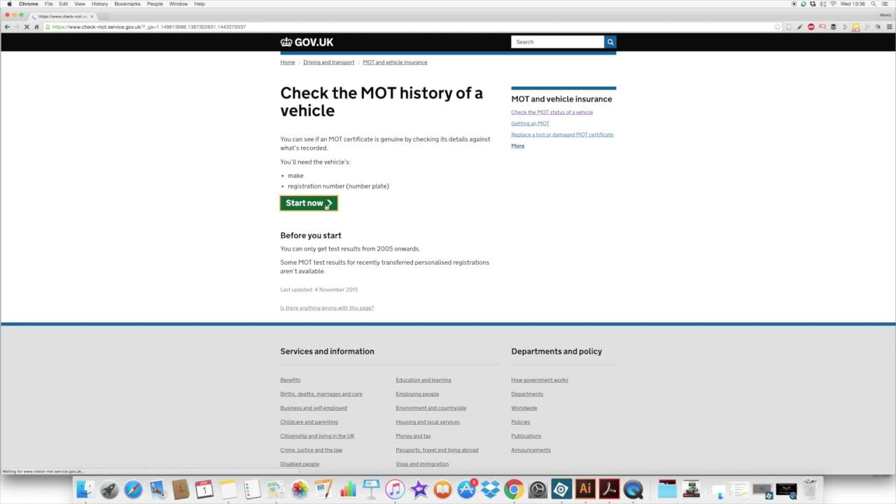 How Check Your Mot Status Online With The Dvla Youtube
