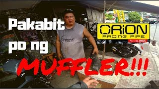 Pakabit nga po ng Muffler | Orion Racing Pipe | CFMoto 400NK NK400 Philippines
