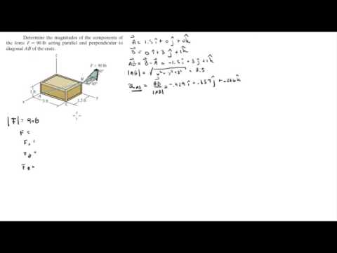 Find the parallel and perpendicular components to AB of the Force