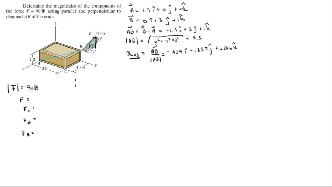 Find The Parallel And Perpendicular Components To Ab Of