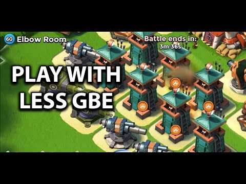 How to Play with Less GBE
