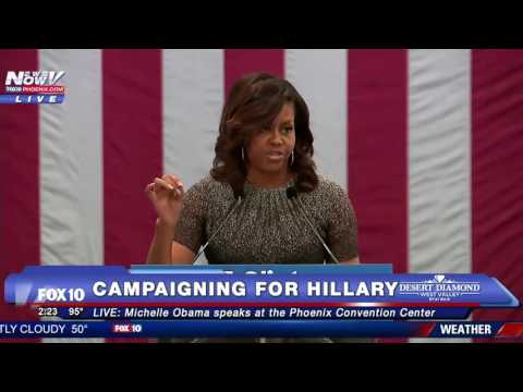FNN: Michelle Obama Campaigns for Hillary Clinton in Phoenix - FULL SPEECH