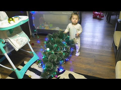 Funny Baby's First Christmas Tree Fail - Cute Baby vs New Year Tree - 2018