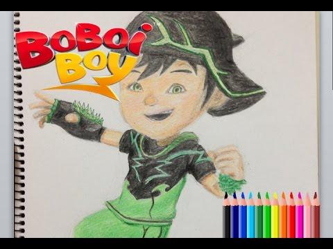 Nobita Art Drawing Boboiboy Thorn Melukis Boboiboy Daun Youtube