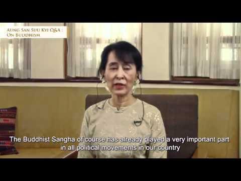 Aung San Suu Kyi  Q&A On Buddhism