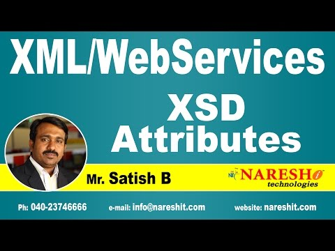 XSD Attributes | XML Tutorial | Mr. Satish B