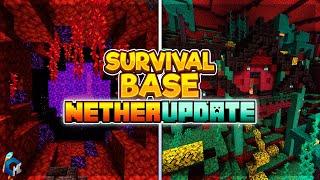 NETHER UPDATE SURVIVAL BASE [Download] for MCBE 1.16.0+ |Increíble base en el Nether