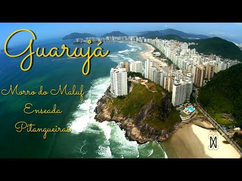 Guarujá - Praia da Enseada, Praia de Pitangueiras e Morro do Maluf