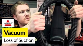 how to fix loss of suction in a bissell vacuum bissell powerforce bagless vacuum cleaner