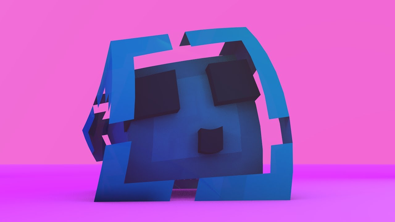 Blue profile picture