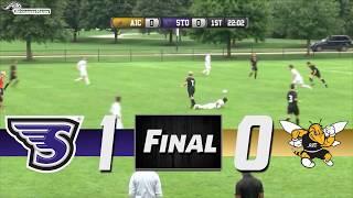 Stonehill Men's Soccer Highlights vs AIC