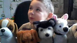 Детское развивающее видео. Игрушки собаки.