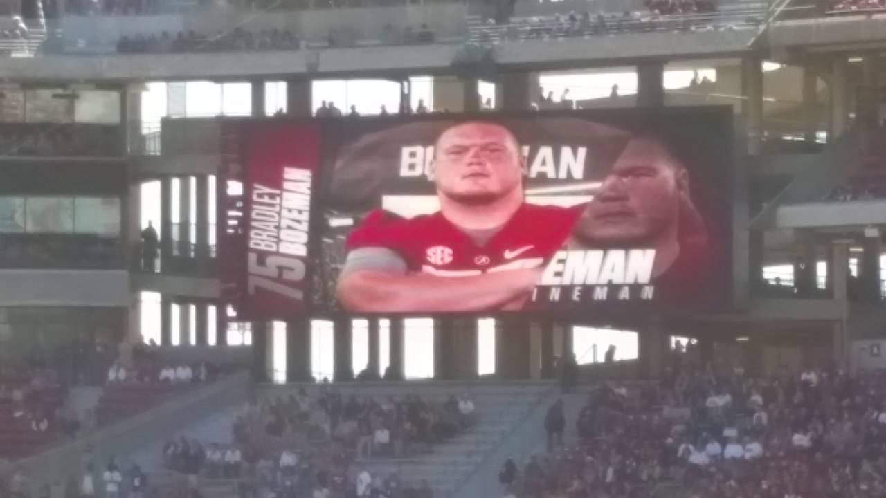 Alabama Starting Lineup >> Alabama Football Starting Lineup 2016 Youtube