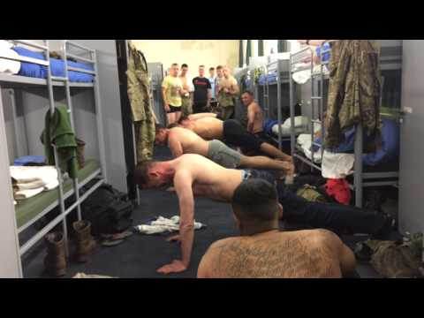 Press up challenge at maindy barracks with the lads!