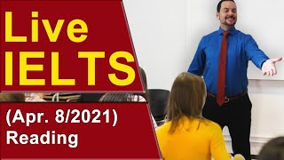 IELTS Live - Reading Section - Band 9 Strategy and Practice