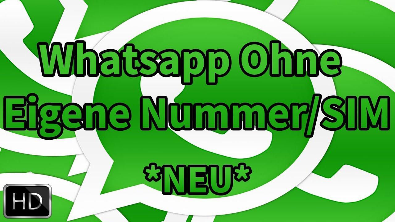 Whatsapp Ohne Sim Karte Nutzen.Whatsapp Ohne Nummer Sim Nutzen Neu Deutsch Full Hd