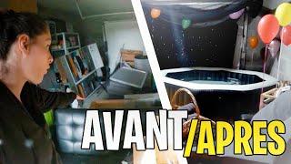 48H pour aménager mon garage 😍 (jacuzzi etc..)