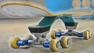 SUSPENS ON SKATEBOARD W TH 8 WHEELS
