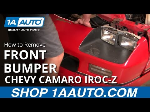 How To Remove Front Bumper Cover 82-92 Chevy Camaro IROC-Z