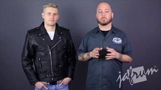 MJ402 Classic Leather Motorcycle Jacket Review at Jafrum.com
