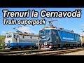 Parada de trenuri la Cernavoda-Trains near Danube–Black Sea Canal-Zügefestival in Dobrudscha