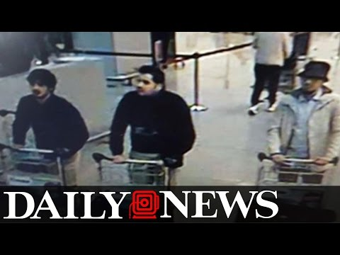 Three suspects for Brussels attacks seen in airport surveillance footage