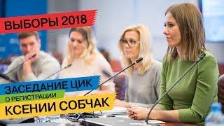 ЦИК оглашает решение по кандидатуре Ксении Собчак