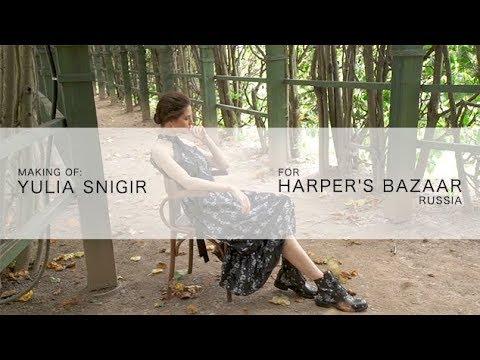 Photoshoot for Harper's Bazaar Russia with actress Yulia Snigir in Erdem X H&M