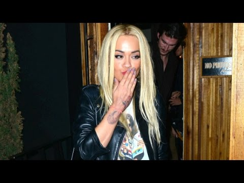 Rita Ora Removing Rose Hand Tattoo, Parties Til 2AM In Hollywood