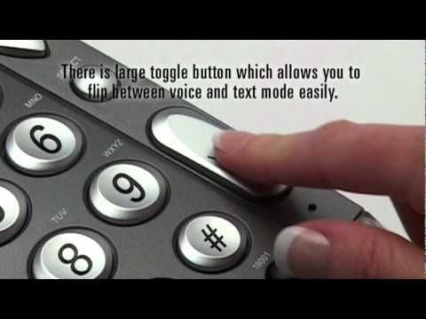 Big Button telephone for hard of hearing: SCREENPHONE