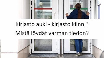Lahti Kirjasto Aukioloajat