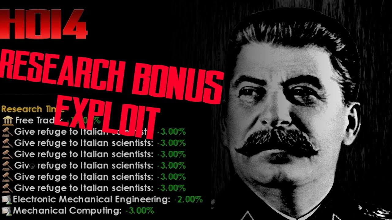 Hearts Of Iron 4: Research Bonus Multiplayer Exploit Cheat