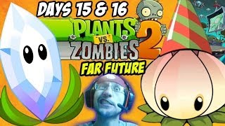 Lets Play Plants vs. Zombies 2: Magnifying Grass - Far Future Days 15 - 16 - 17 (Power Lilly B-Day)