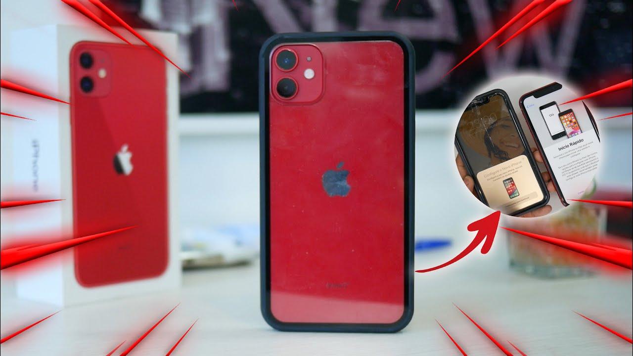 TROQUEI meu iPhone 11 com tela quebrada por um NOVO | Vem Carregador e Fone?