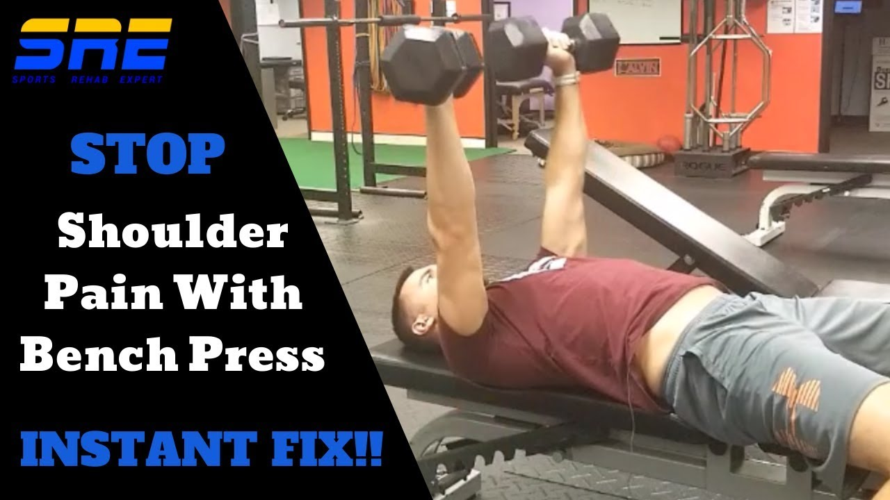 Stop Shoulder Pain With Bench Pressing Instantly