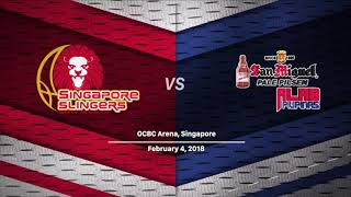 San Miguel Alab Pilipinas vs Singapore Slingers - Full game Feb 4, 2018
