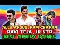 Allu Arjun, Ram Charan, Ravi Teja, Jr NTR Best Comedy   South Indian Hindi Dubbed Best Comedy Scenes