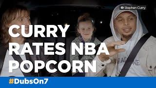 Stephen Curry rates NBA arena popcorn