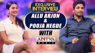 EXCLUSIVE || Live Interview With Allu Arjun & Pooja Hegde | Aditya Music | DSP | Harish Shankar