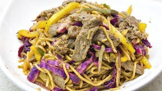 BEEF AND PANCIT CANTON STIR-FRY | HOW TO COOK BEEF PANCIT CANTON