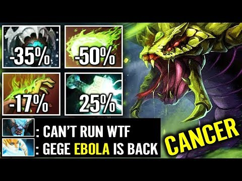 WTF CAN'T RUN 90% Slow AIDS/EBOLA Venomancer New Most Advance Toxic Build 7.20 Dota 2