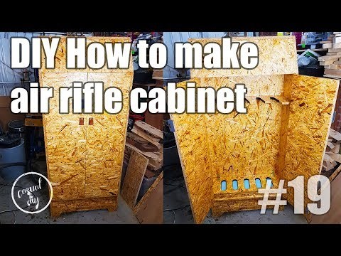 DIY air rifle cabinet from OSB