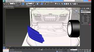 Audi R8 Araba Modelleme-14