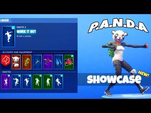 NEW! DANCE EMOTES! With PANDA And SUSHI MASTER Skin! (showcased) Fortnite Battle Royale