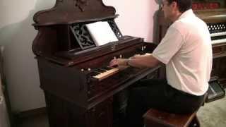 c.1871 W. Bell Flat Top Cabinet Organ - The King of Love My Shepherd Is