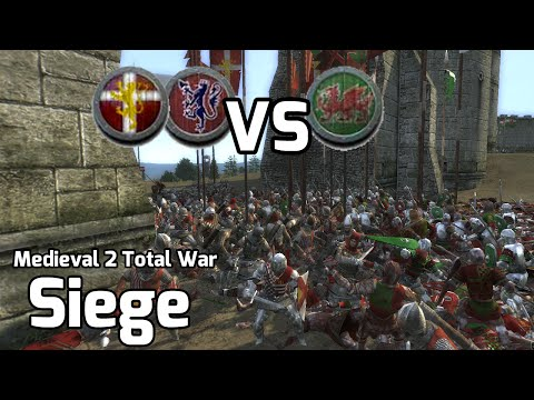 Medieval 2 Total War Online Battles #224 (1v2 Siege) - Save the Wales