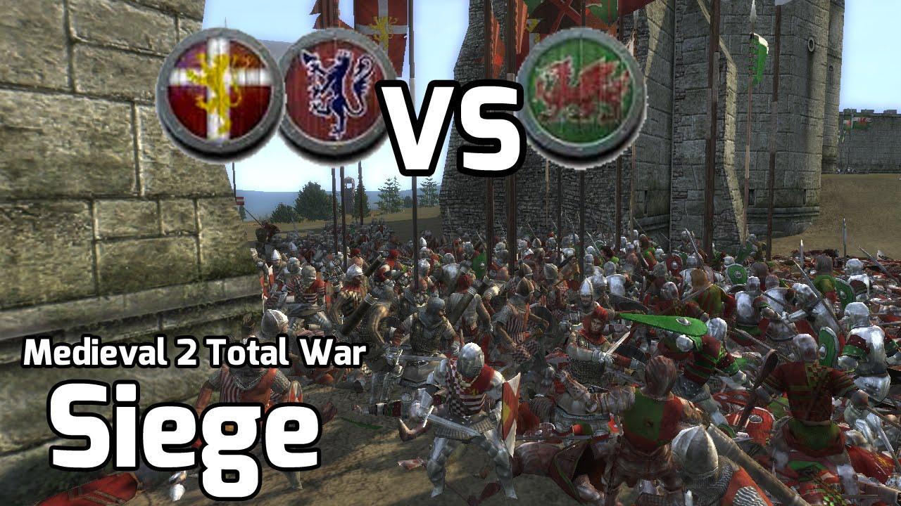 Medieval 2 Total War Online Battles #224 (1v2 Siege) - Save the Wales
